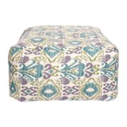 Artisan Weaver Agua Ikat Indoor Outdoor Pouf