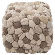 Artisan Weaver Pebble Pouf