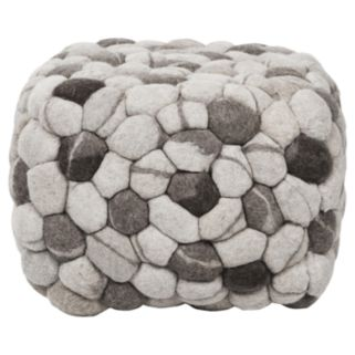 Artisan Weaver Rock Pouf