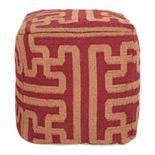 Artisan Weaver Ardmore Maze Wool Pouf