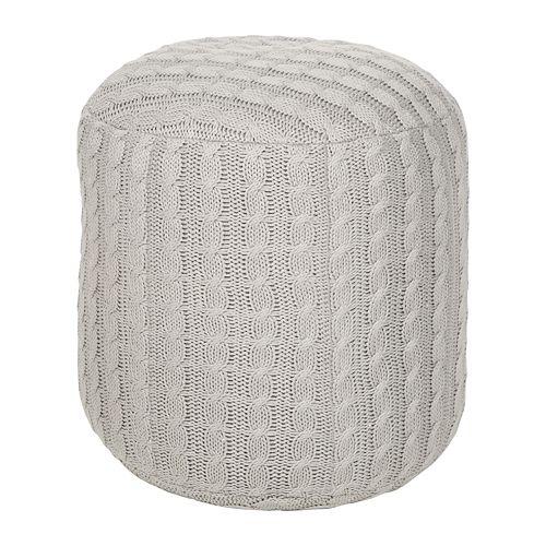 Artisan Weaver Artas Cable Knit Pouf