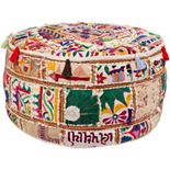 Artisan Weaver Blackwell Patchwork Pouf