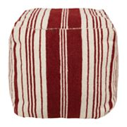 Artisan Weaver Albee Striped Pouf