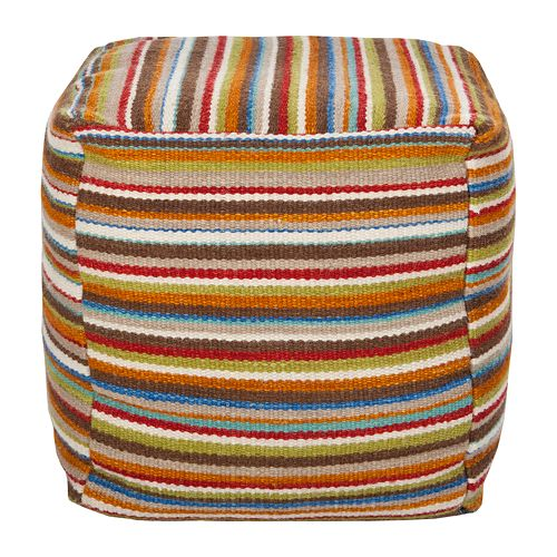 Artisan Weaver Barnsdall Striped Pouf