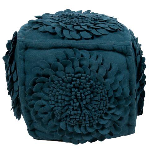 Artisan Weaver Beaver Flower Pouf