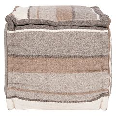 Artisan Weaver Scotts Mills Striped Wool Pouf