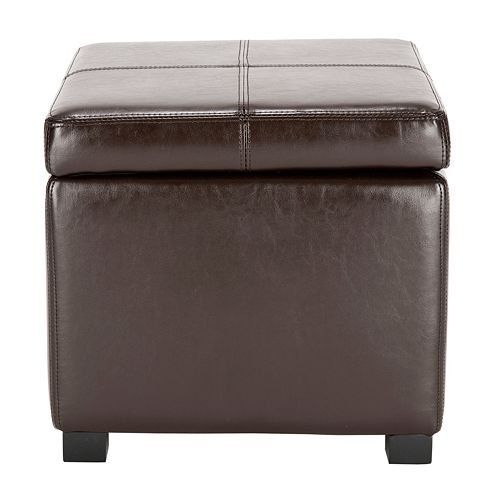 Astonishing Safavieh Madison Leather Storage Ottoman Ncnpc Chair Design For Home Ncnpcorg