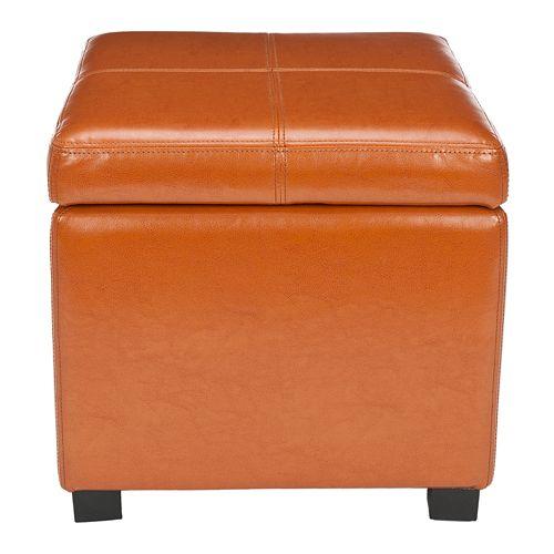 Safavieh Madison Leather Storage Ottoman