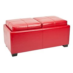Safavieh Harrison Double Tray Storage Ottoman