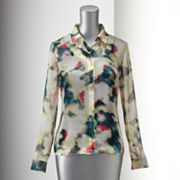 Simply Vera Vera Wang Watercolor Blouse