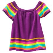 SONOMA life + style Striped Flutter Sleeve Top - Toddler