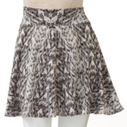 Lily Rose Abstract Feather A-Line Skirt - Juniors