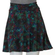 Lily Rose Abstract Floral A-Line Skirt - Juniors
