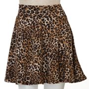 Lily Rose Leopard A-Line Skirt - Juniors
