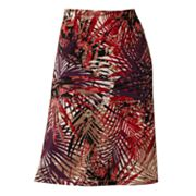 212 Collection Leaf Pull-On Skirt
