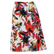 212 Collection Floral Pull-On Skirt
