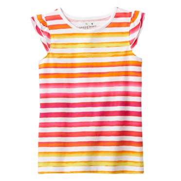 Jumping Beans Striped Flutter Tank - Girls 4-7
