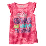 Jumping Beans Tie-Dye Princess Flutter Tank - Girls 4-7
