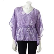 Jennifer Lopez Scroll Sequin Poncho Top - Petite
