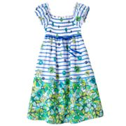Speechless Floral Striped Peasant Dress - Girls 7-16