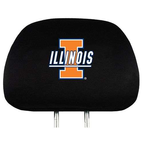 Illinois Fighting Illini Head Rest Covers