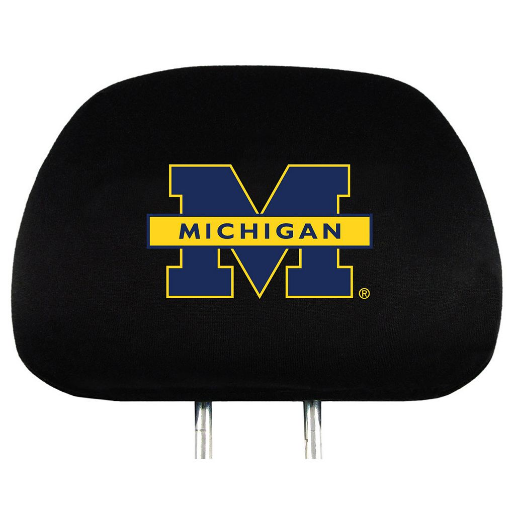 Michigan Wolverines Head Rest Covers
