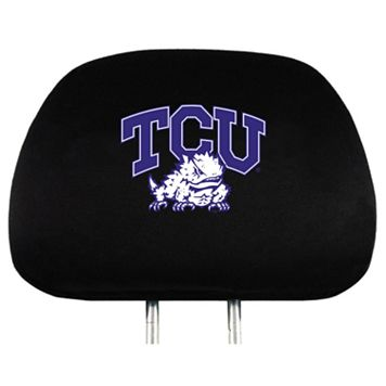 TCU Horned Frogs Head Rest Covers