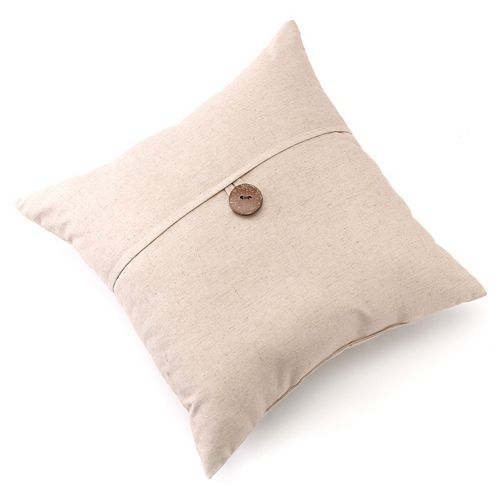 "Linen Button Decorative Pillow - 20"" x 20"""