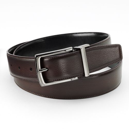 Apt. 9® Burnished Peak Reversible Faux-Leather Belt