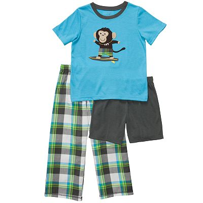 Carter's 3-pc. Surf Monkey Pajama Set - Boys 4-7