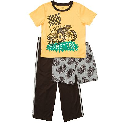 Carter's 3-pc. Monster Truck Pajama Set - Boys 4-10