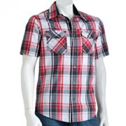 Helix Plaid Woven Button-Down Shirt - Men
