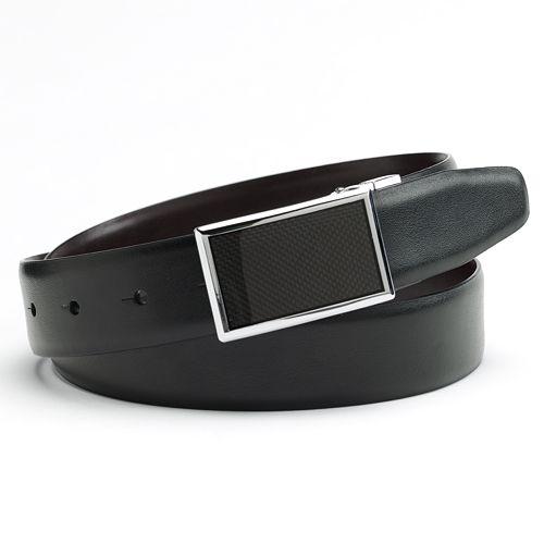 Apt. 9® Graphic Plaque Reversible Faux-Leather Belt