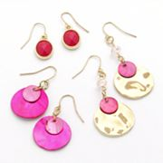 SONOMA life + style Gold Tone Bead Drop Earring Set