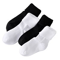 Girls Trimfit 4-pk. Triple-Roll Socks