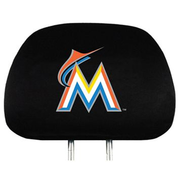 Miami Marlins Head Rest Covers