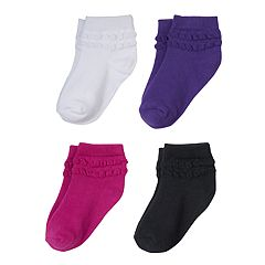 Girls Trimfit 4-pk. Bubble Stitch Socks
