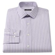 Marc Anthony Slim-Fit Striped Easy-Care Spread-Collar Dress Shirt