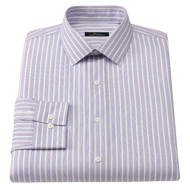Purple back button dress kohl 39 s for Tony collar dress shirt