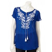 AB Studio Embroidered Top