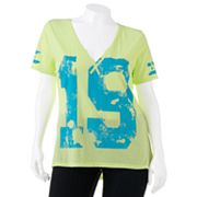 Derek Heart Numbered Hi-Low Jersey Tee - Juniors' Plus