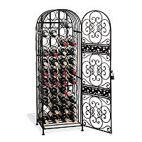 Wine Enthusiast 45-Bottle Wrought Iron Wine Rack