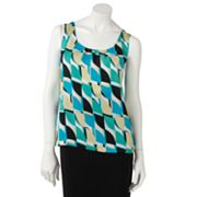 Dana Buchman Geometric Pleated Top