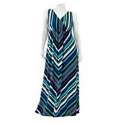 Apt. 9 Geometric Surplice Maxi Dress - Women's Plus