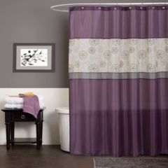 purple shower curtains shower curtains & accessories - bathroom
