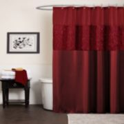 Lush Decor Maria Fabric Shower Curtain