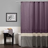 Lush Decor Mia Fabric Shower Curtain