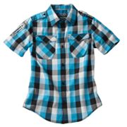 Helix Woven Graphic Button-Down Shirt - Boys 8-20