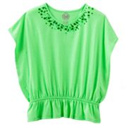 SO Sequined Butterfly Poncho Top - Girls 7-16