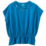 SO Sequined Butterfly Poncho Top - Girls Plus